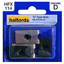 image of Halfords U-Type Nuts (HFX114) No.10 & No.12
