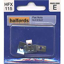 image of Halfords Flat Nuts (HFX115) No.6 & No.8