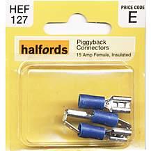image of Halfords Piggyback Connectors (HEF127) 15 Amp/Female