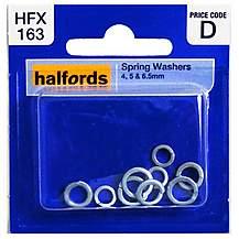 image of Halfords Spring Washers (HFX163) 4, 5 & 6.5mm