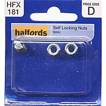 image of Halfords Self Locking Nuts 5mm