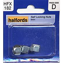 image of Halfords Self Locking Nuts 6mm