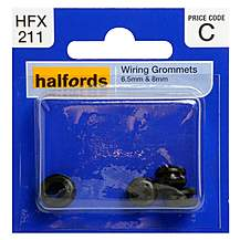 image of Halfords Wiring Grommets 6.5 & 8mm
