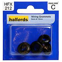 image of Halfords Wiring Grommets 9 & 13mm