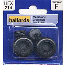 image of Halfords Membrane Grommets 6 & 13mm