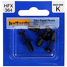 image of Halfords Trim Panel Rivets (HFX364)