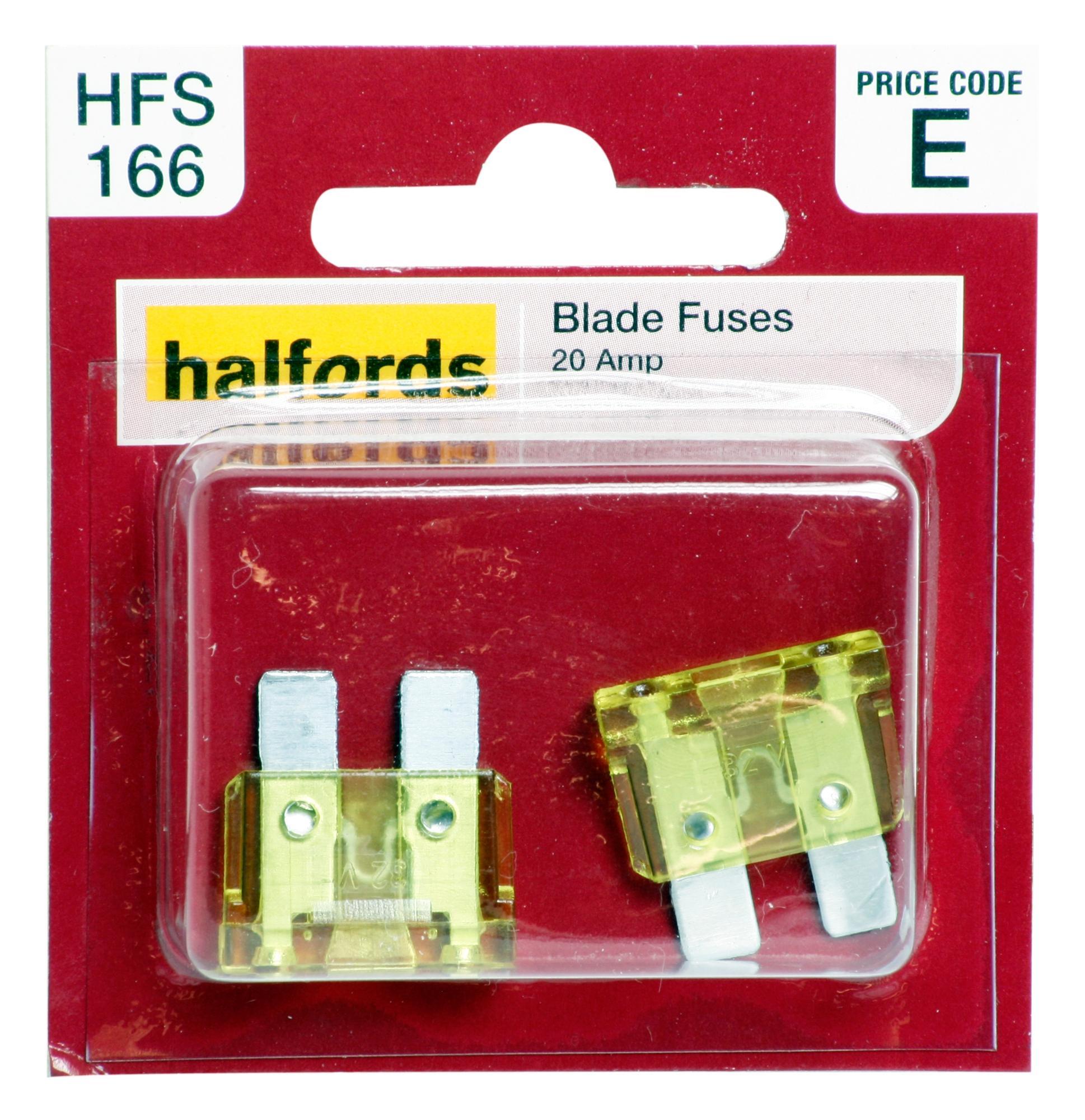 halfords blade fuses 20 amp rh halfords com