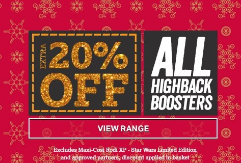 Extra 20 off All Highback Boosters