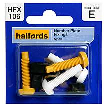 image of Halfords Number Plate Fixings (HFX106)