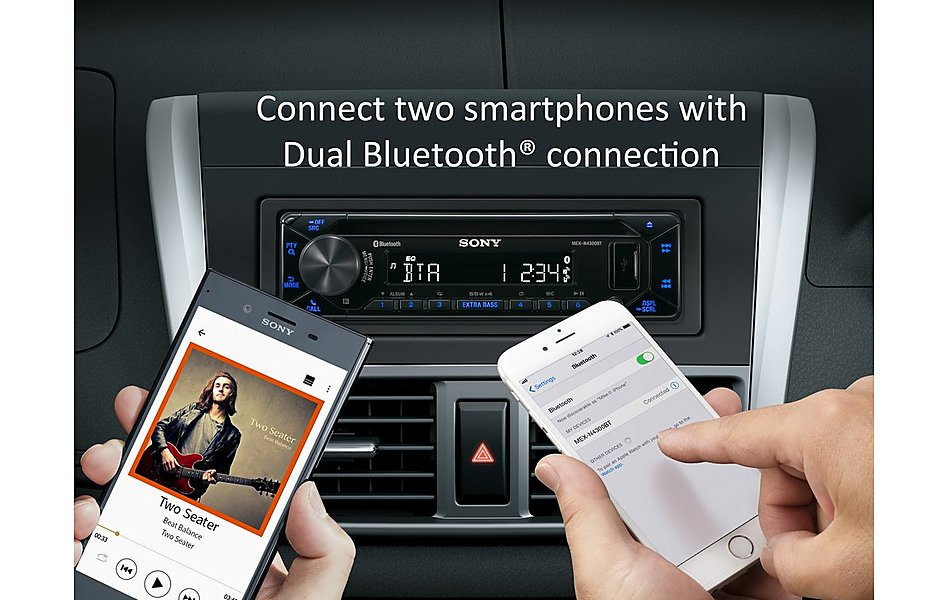 Sony MEX-N4300BT Car Stereo with Dual Bluetooth Connectivity