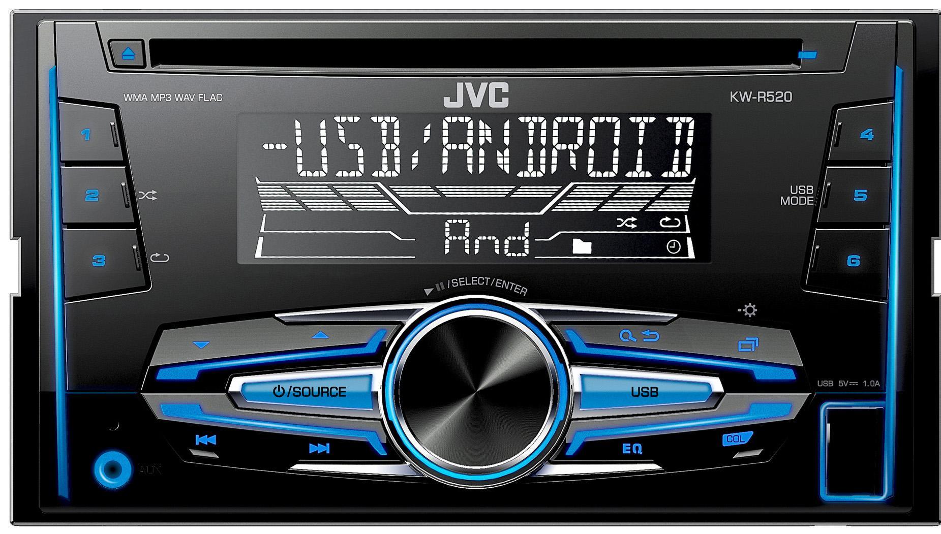 jvc kw r520 double din car stereo rh halfords com JVC Car Stereo CD Players JVC Car Stereo CD Players