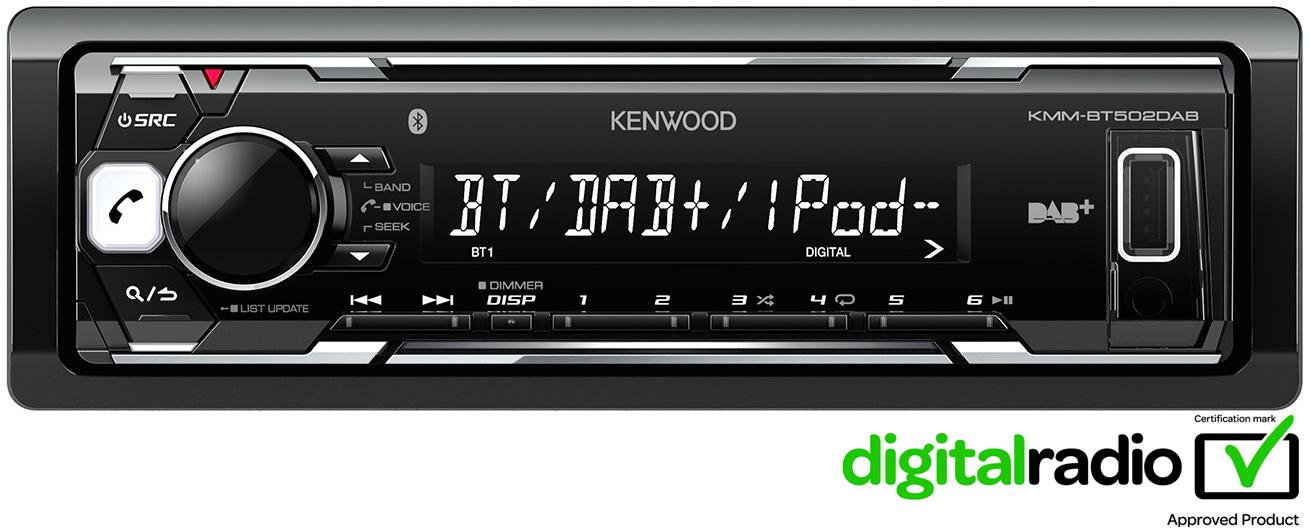 ex display kenwood bt502dab digital rh halfords ie Kenwood Bluetooth Car Stereo Alpine Car Stereo
