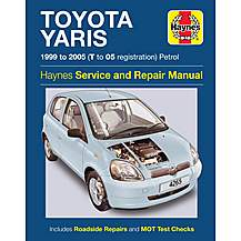image of Haynes Toyota Yaris (99 - 05) Manual