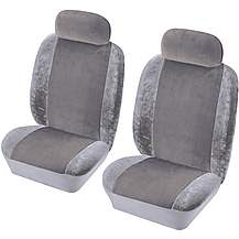 image of Cosmos Heritage Front Pair Seat Covers Grey