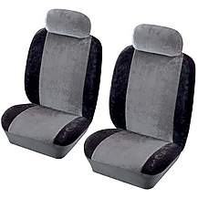 image of Cosmos Heritage Front Pair Seat Covers Black