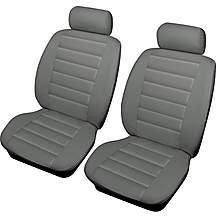 image of Cosmos Leatherlook Front Pair Seat Covers Grey