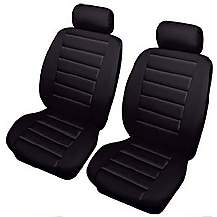 image of Cosmos Leatherlook Front Pair Seat Covers Black