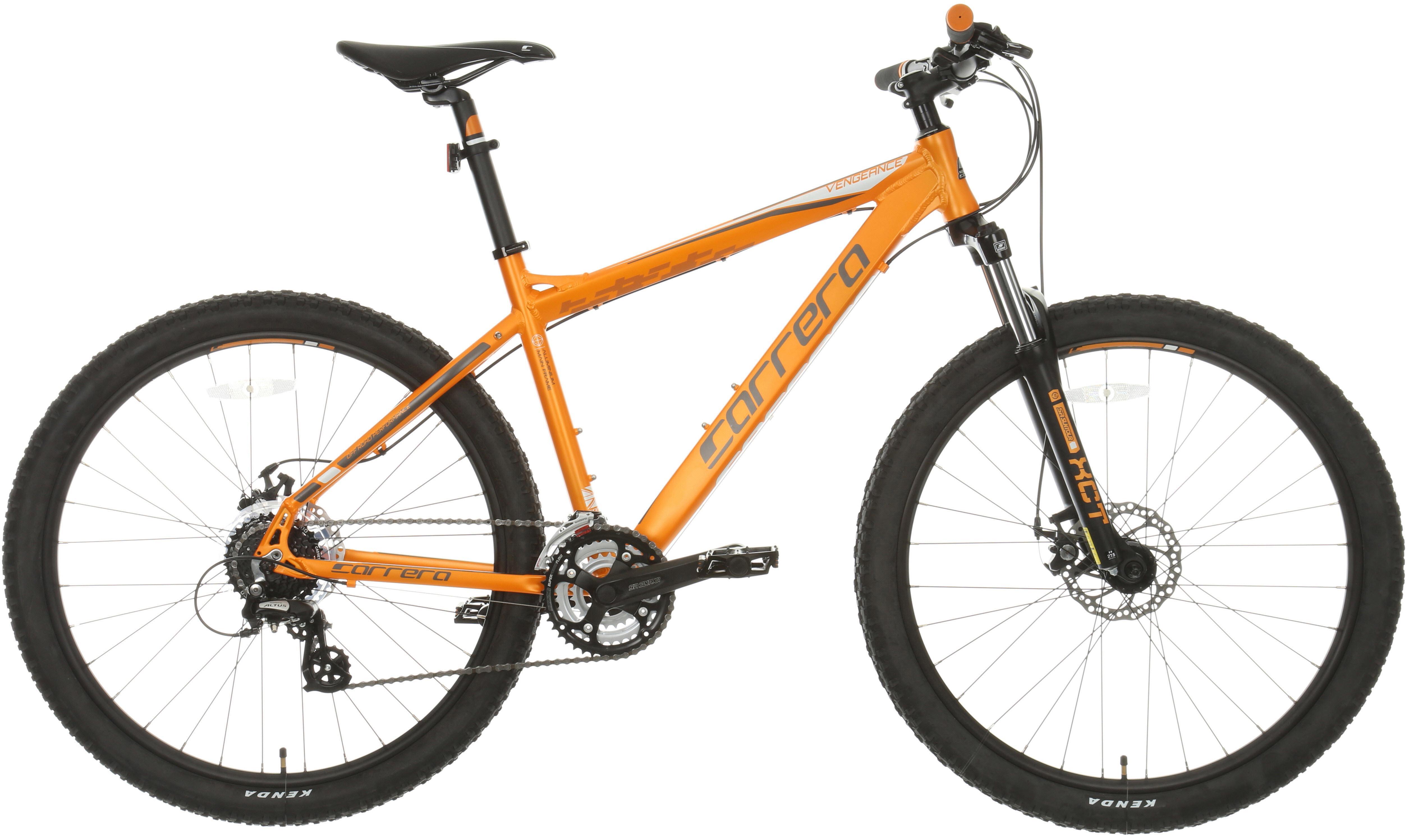Carrera Vengeance Mens Mountain Bike - Orange, L