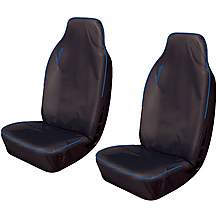 image of Cosmos Hi Back Extra Front Pair Seat Covers Black/Blue