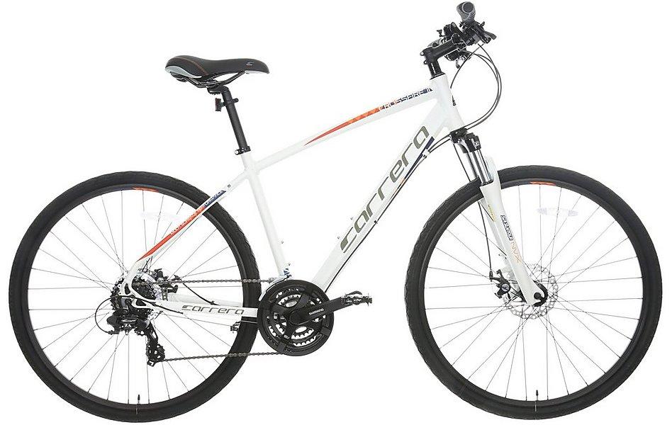 Carrera Crossfire 2 Mens Hybrid Bike - White - 17\