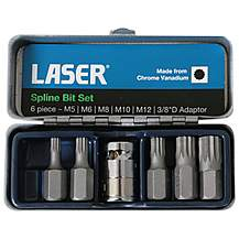 Laser 6 Piece Spline Bit Set