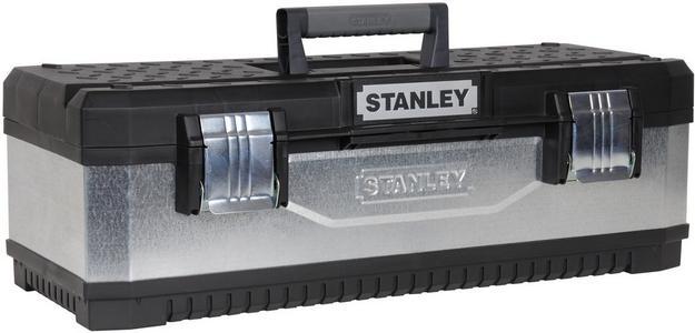 """26"""" Stanley Galvanised Metal/Plastic Toolbox"""
