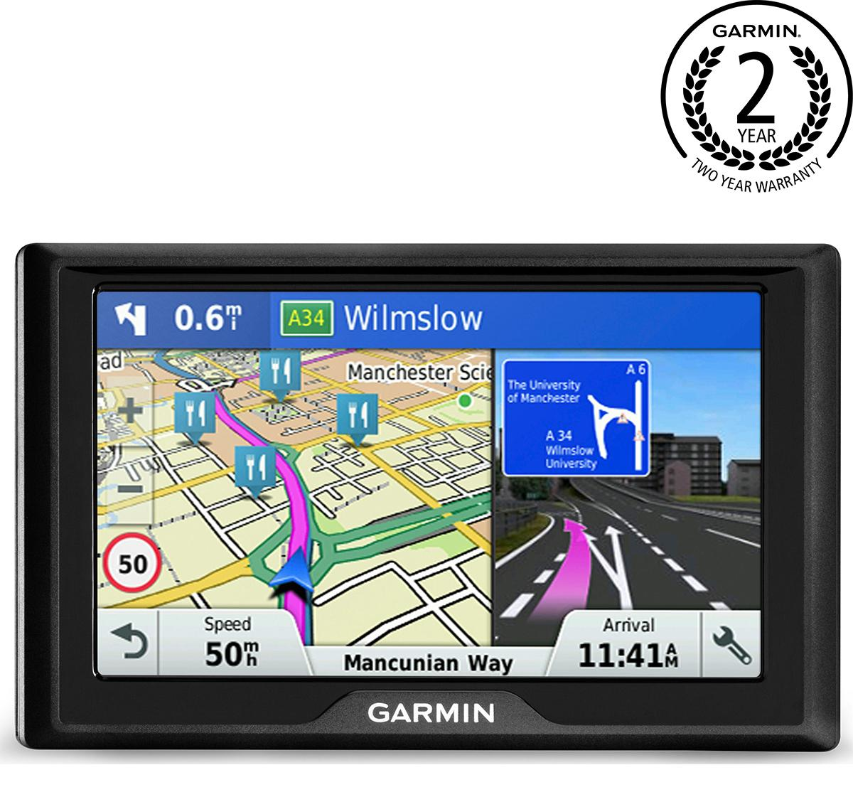Garmin Drive 50 Lm 5 Inch Sat Nav With Lifetime Uk And Ireland Maps
