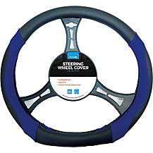 image of Simply Flat Steering Wheel Cover - Blue