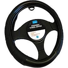 image of Simply Large/Van Steering Wheel Cover - Black