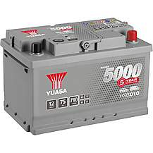 image of Yuasa HSB010 Silver 12V Car Battery 5 Year Guarantee