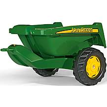 image of Rolly Toys Rolly Kipper John Deere Trailer