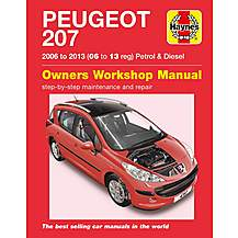 image of Haynes Peugeot 207 (06 - July 09) Manual