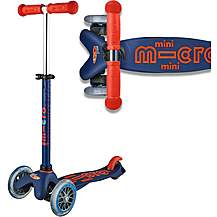 image of Mini Micro Deluxe Navy Kids Scooter
