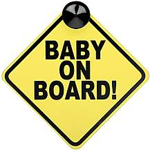 image of Halfords Baby on Board Sign
