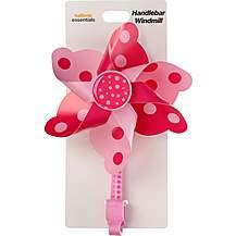 image of Halfords Essential Kids Bike Handlebar Windmill - Pink/Purple