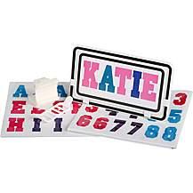 image of Halfords Essential Kids Bike Number Plate - Pink/Blue/Purple