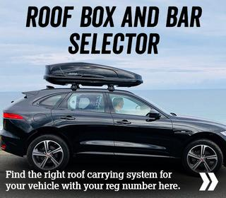 Roof box and bar selector