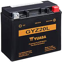 image of Yuasa GYZ20L 12V High Performance Maintenance Free VRLA Battery