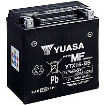 image of Yuasa YTX16-BS 12V Maintenance Free VRLA Battery