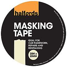 image of Halfords Masking Tape 25mm x 25m
