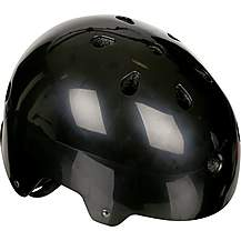 image of Halfords Essential ABS Kids Helmet - Black (48-54cm)