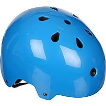 image of Halfords Essential ABS Kids Helmet - Blue (48-54cm)