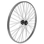 """Front Mountain Bike Wheel - 26"""" Silver Rim"""