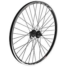 "image of Quick Release Front Mountain Bike Wheel - 26"" Black Rim"