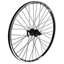 "image of 8-Speed Rear Bike Wheel - 26"" Black Rim"