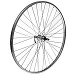 image of Rear 700c Alloy Bike Wheel in Silver