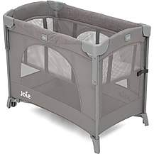image of Joie Kubbie Sleep Travel Cot Foggy Grey