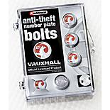 Richbrook Vauxhall Anti-Theft Number Plate Bolts