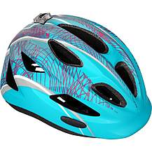 image of Halfords Kids Helmet - Turquoise and Pink (48-54cm)