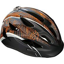 image of Halfords Kids Helmet - Black and Yellow (48-54cm)